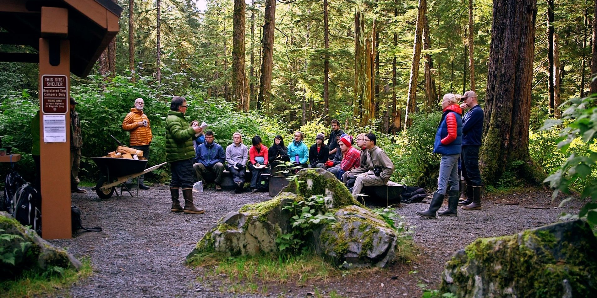 Image of an outdoor program gathering